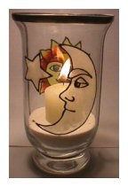 Glass Painted Candle Holder