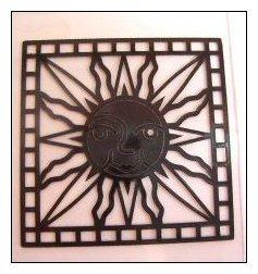 Peelie of sun for suncatcher