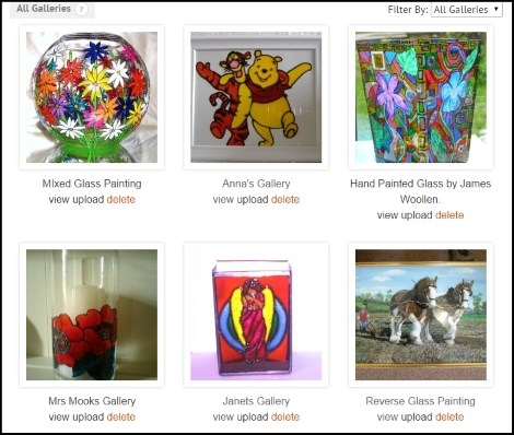 Glass Painting Gallery