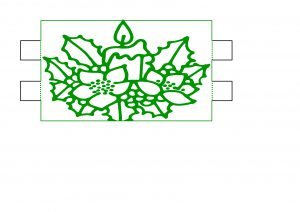 Christmas Candle Lamp Design.