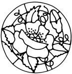 Flower design for Glass Painting