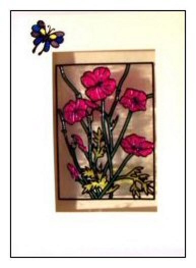 Glass Painted Card Project
