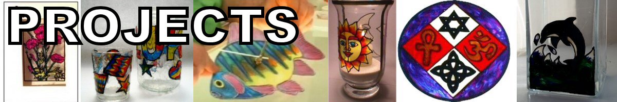 Glass Painting Projects for all ages and abilities.