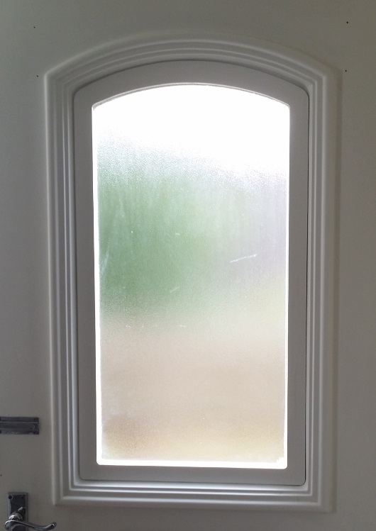 Front Door with film removed.