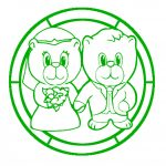 Craftville Bear Glass Painting designs.