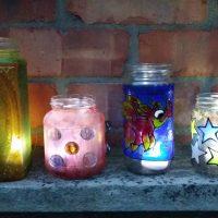 Decorating Jam Jars and Mason Jars.