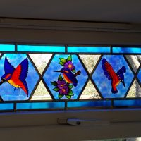 Faux Stained Glass Window.
