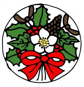 Christmas Bouquet design in Colour.