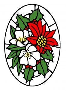 Christmas Bouquet design 2 in Colour.