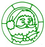 Glass Painting Father Christmas design.