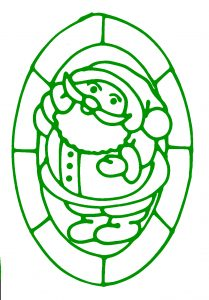 Glass Painting Father Christmas design 2.