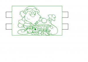 Father Christmas Lamp Design.
