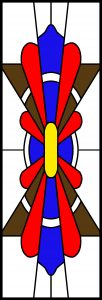 Faux Stained Glass Window Design.