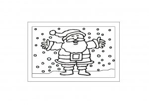 Father Christmas Glass Painting Template to download