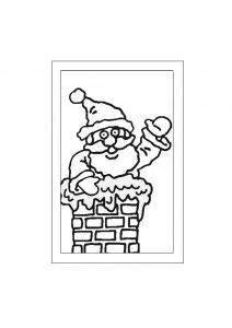 Free Father Christmas Glass Painting Design to download.