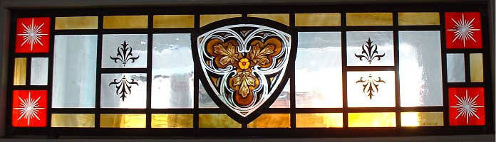 Glass Painted Transom Window by Arthur Vanson