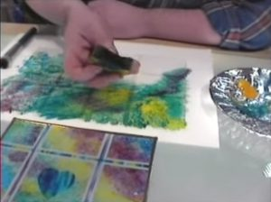 Glass Painting Stippling and Sponging techniques.