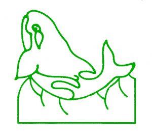 Whale Tile Design.