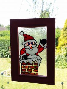 Step by step Christmas Framed Suncatcher Project