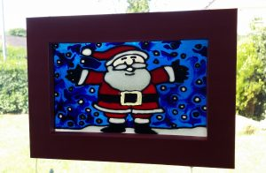 Glass Painting at Christmas.