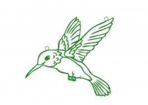 Humming bird sun catcher design.