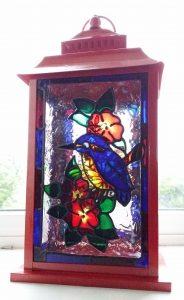 Glass Painted Lantern.