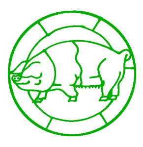 Free Pig Glass Paintings Design.