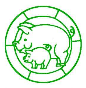 Free Pig and Piglet Design to download and print..