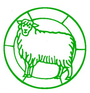 Free Sheep Stained Glass Design.