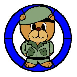 Army Bear in Colour.