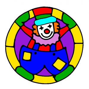 Clown Design in Colour.