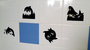 Glass Painting Film on Tiles.