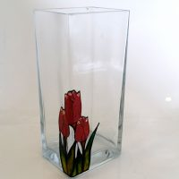 Glass Painting Film. Vase.