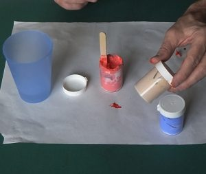 Makr your own outliner for glass painting.