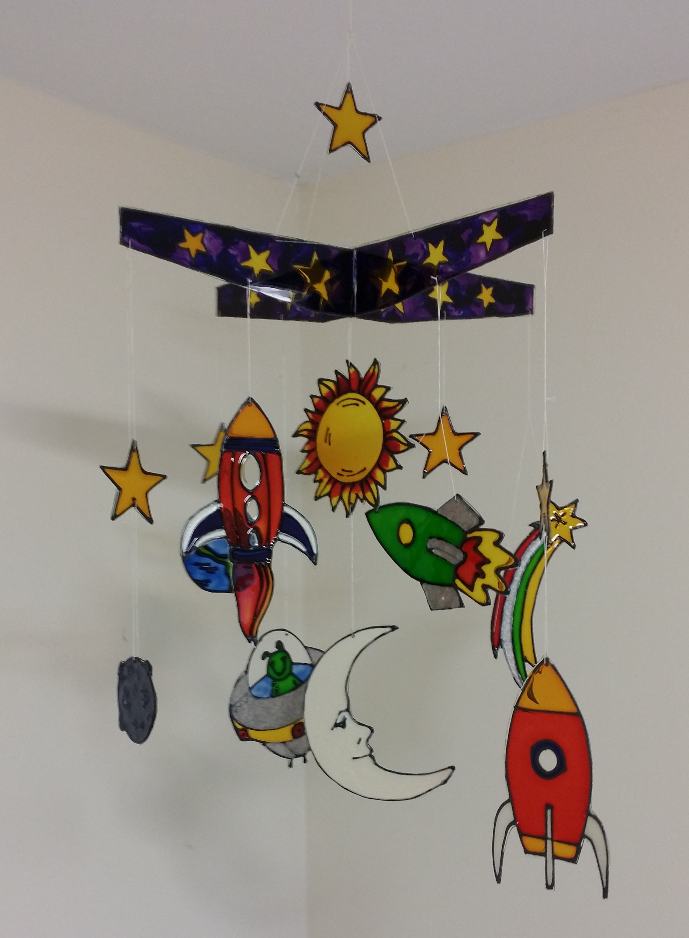 Glass Painted Mobile Project.