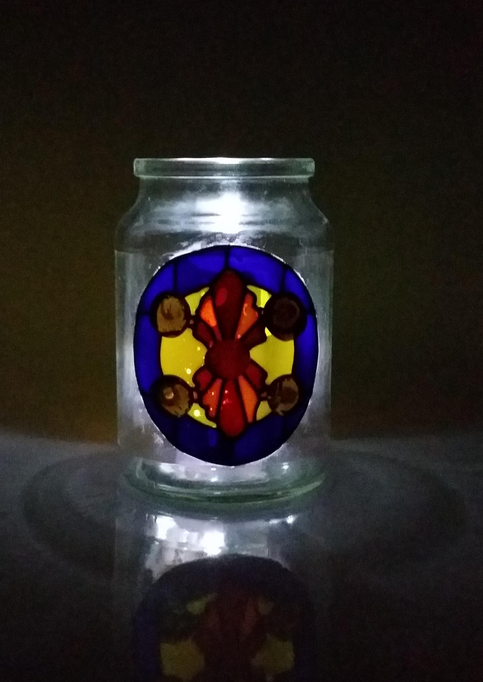 Glass painted jam jars and mason jars solvent paint for Solvent based glass paint