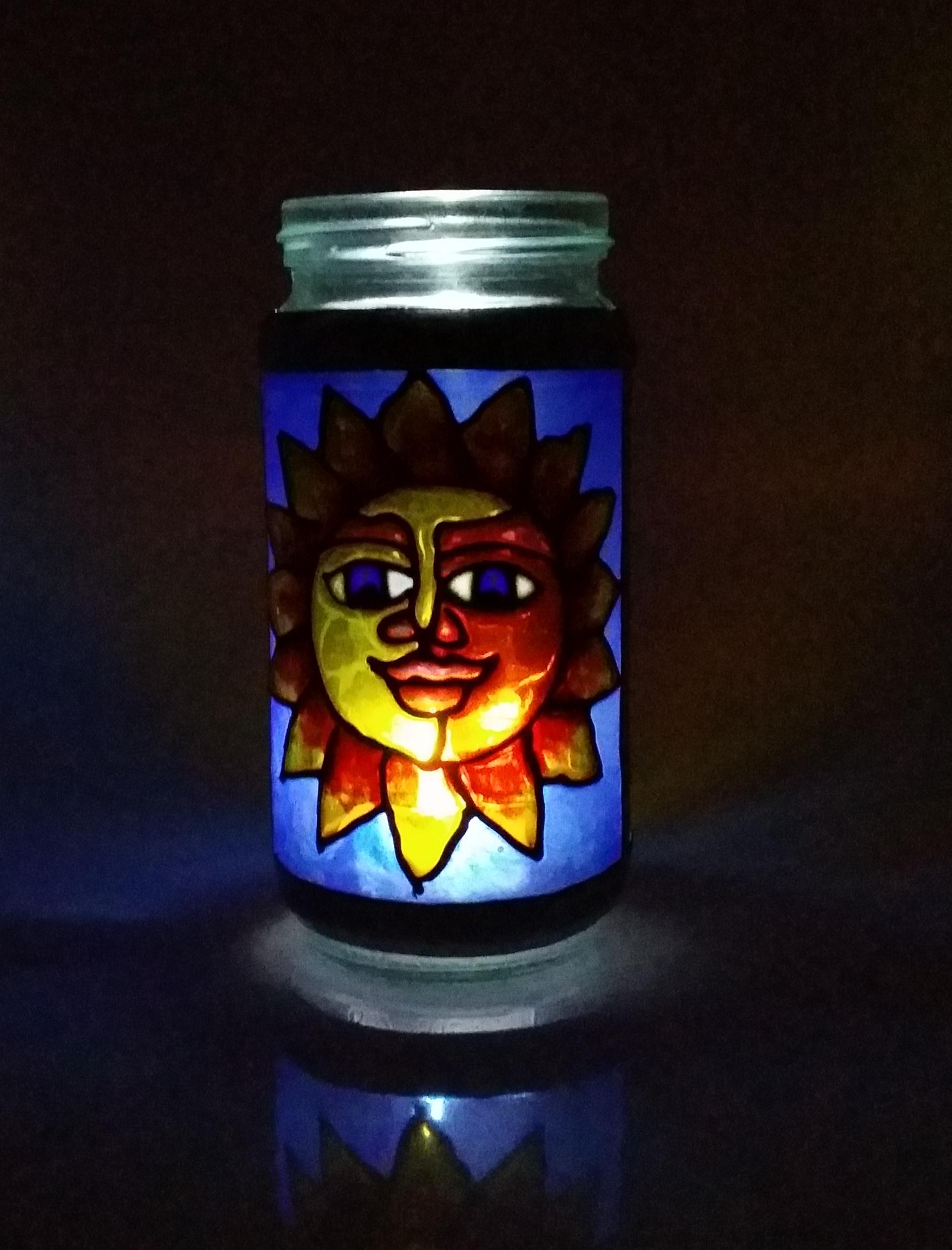 Glass painting jam jars and mason jars project technique for Glass painting techniques