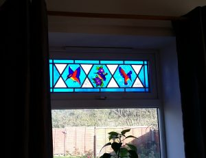 Glass Painting a Window.