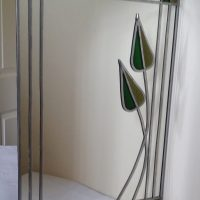 Glass Painted Mirror Project.