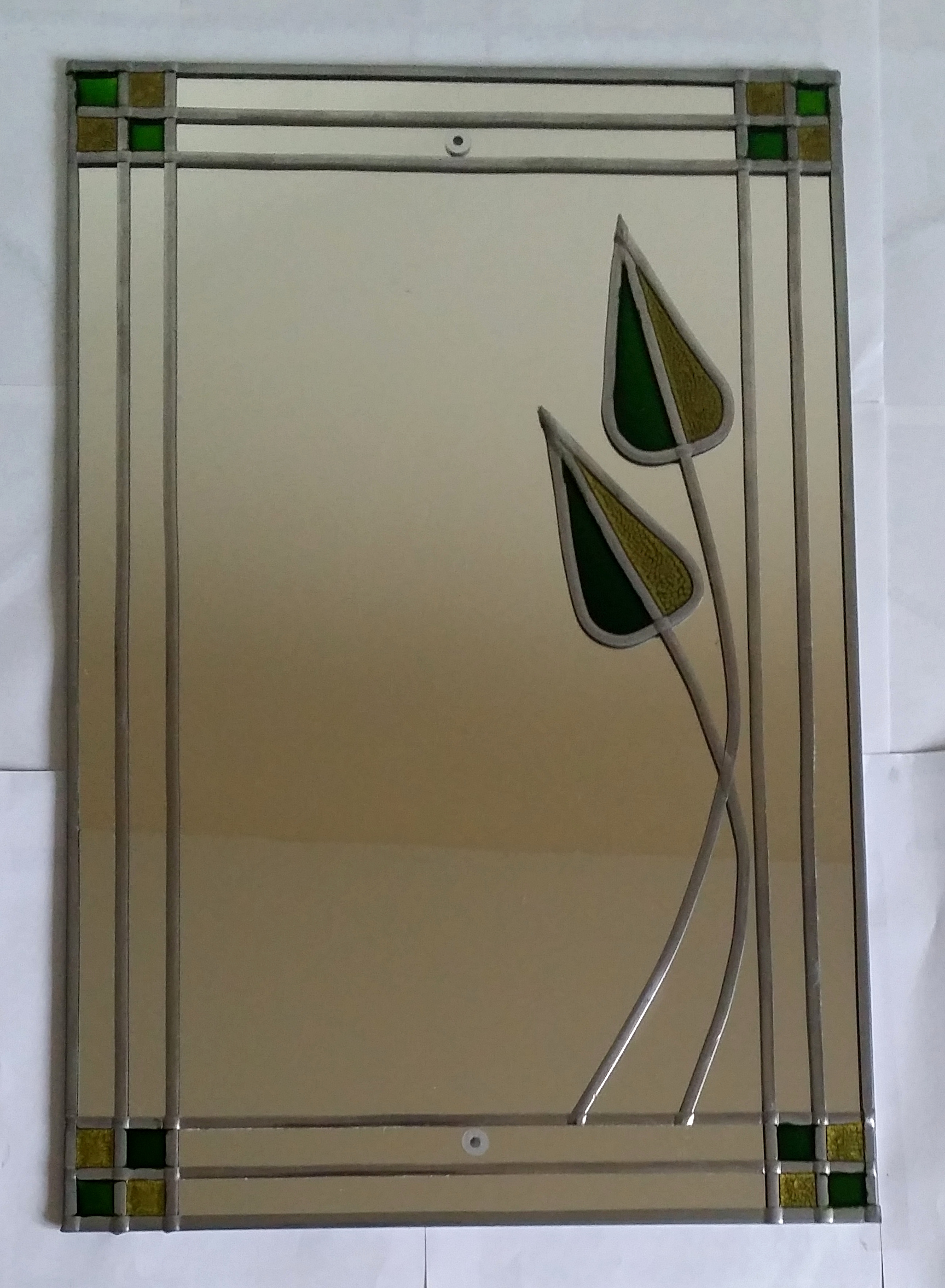 glass painted mirror project glass painting