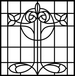 Window Glass Painting Design.