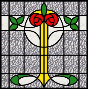 Patterns for faux stained glass.