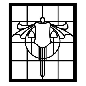 Outline design for glass painting
