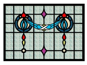 Free Design and patterns for Glass Painting.