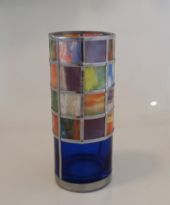Mosaic Glass Painted Vase Project.