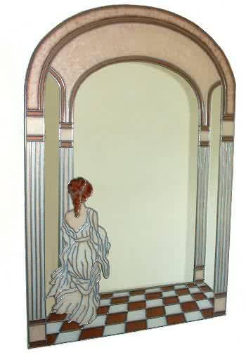 A fantastic Grecian Lady Mirror.
