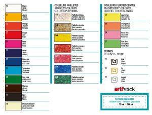 Artistick Colour Chart.