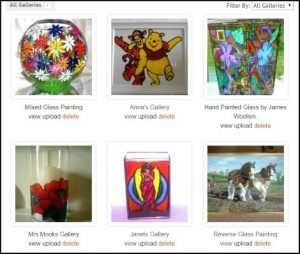 Glass Painting Gallery.