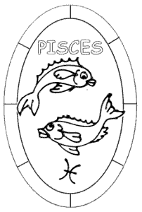 Pisces Glass Painting Design.