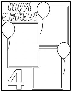 Glass Painted Scrapbooking Template.